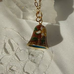 Jewelry - A Cute Cloisonne Bell Necklace